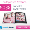 -50% sur le livre photo ENJOY par Smartphoto
