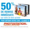 Remise de 50% sur votre 2ème livre photo par PHOTOSTATION