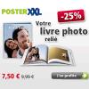25% de réduction sur tous les livres photos reliés posterXXL