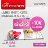Remise de 10€ sur les livres photos personnalisés myPIX