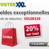 20% de réduction pour les soldes chez posterXXL