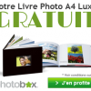 Commander votre livre photo GRATUIT Photobox ?