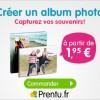 Prentu : Remise de 25% sur les albums photo personnalisés
