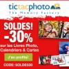 30% de réductions pour les soldes chez TICTACPHOTO !