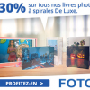 Réduction de  30% sur tous les livres photos à spirales De Luxe