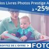 Réduction immédiate de 25% sur votre commande d'un livre photo Prestige A4