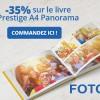 Réduction de 35% sur le livre Prestige A4 Panorama
