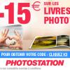 Photostation : -15€ sur votre commande de livre photo