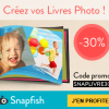 Snapfish : -30% sur les livres photo