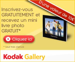 KODAK GALLERY : Un mini livre photo gratuit lors de votre inscription !