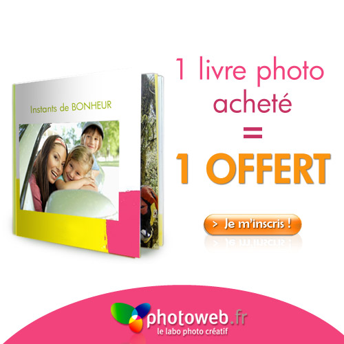 PHOTOWEB : Un livre photo gratuit pour un acheté !