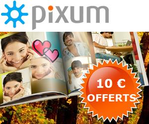 PIXUM : 10 euros de réduction sur les livres photo !