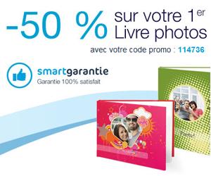 Votre livre photo à moitié prix chez Smartphoto !