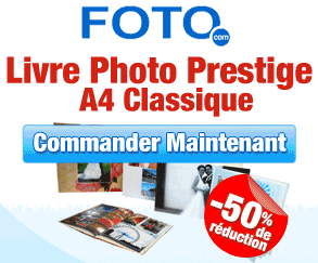 FOTO.com : 50% de réduction sur le livre photo Prestige