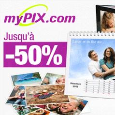MYPIX : Jusqu'à 50% de réduction !