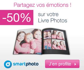 -50% sur le livre photo ENJOY par Smartphoto
