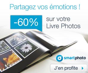 60% de réduction sur les livres photo Create et Inspire de Smartphoto