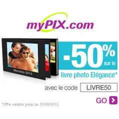 MYPIX : -50% sur votre Livre Photo Elégance !
