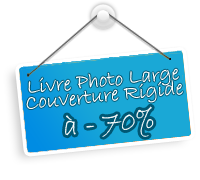 Livre Photo Large à - 70 % : coupon par personne !