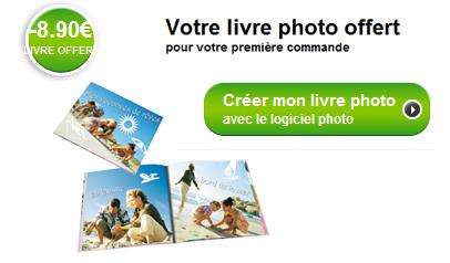Offre spéciale livre photo : mini livre photo gratuit ou remise de 8,90 euros sur tout autre livre photo