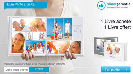 Smartphoto : 1livre acheté = 1 livre offert