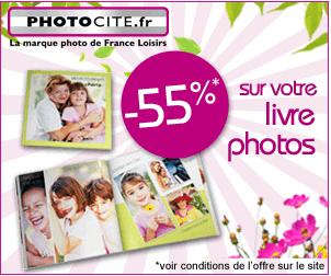 PHOTOCITE : – 55% sur les livres photos carrés
