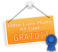 Livre photo Luxe A4 GRATUIT avec Photobox