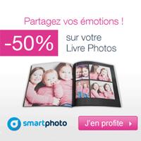 SMARTPHOTO : Réduction de 50% sur le livre photo Carré