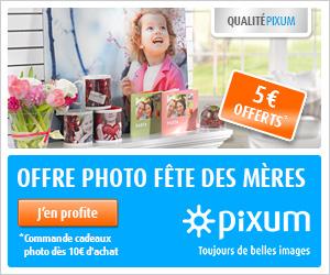 5€ de réduction pour la Fête des Mères chez Pixum !