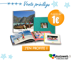 Photoweb lance ses ventes privilèges : Livre Photo à 1€