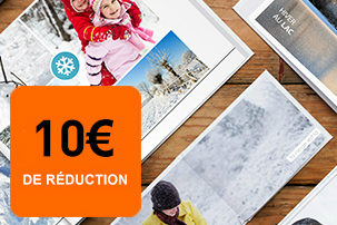 10€ de réduction pour toute commande de livres photos avec Albelli