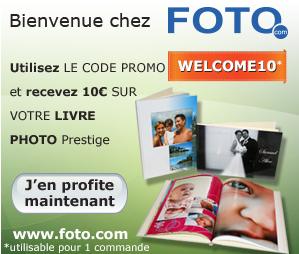 10 euros de réduction sur votre commande de livre photo prestige chez FOTO.COM