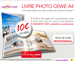 -10€ sur votre livre photo cewe A4