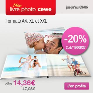 Bons Plans myPIX avec -20% sur les livres photo A4 XL et XXL