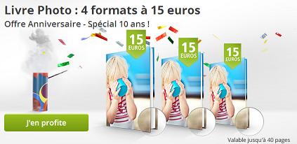 Anniversaire posterXXL : 4 formats de livres photo à 15€