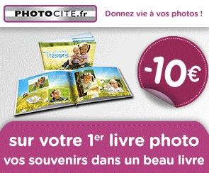 -10€ sur votre 1ère commande de livre photo sur Photocité