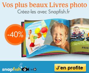 -40% sur les livres photo Snapfish