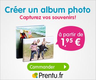 Prentu : Remise de 20% sur les albums photo personnalisés