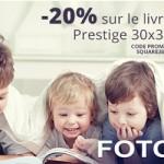 20% de réduction sur votre album photo