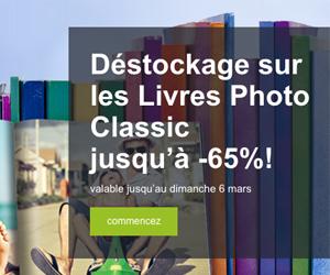 Jusqu'à -65% déstockage sur les Livres Photo Classic !
