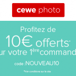 CEWE PHOTO : 10€ offert sur votre première commande