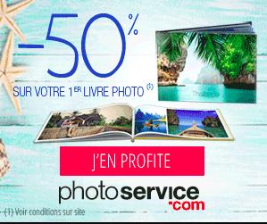 PhotoService : 50% de réduction sur votre 1er livre photo