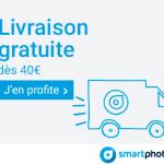 SMARTPHOTO : La livraison gratuite dès 40€ de commande