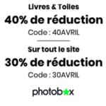Photobox : Remise immédiate de 40% sur les livres photo et pas seulement !