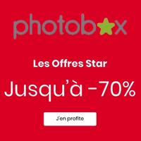Photobox : Jusqu'à 70% de remise immédiate sur tout le site