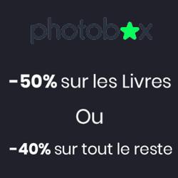 Photobox : -50% sur les livres photos ou 40% sur tous les autres produits